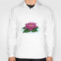 lotus flower Hoodies featuring Lotus by PlanetaryDreamz