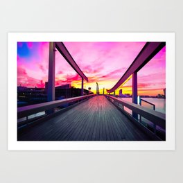 Into the sunrise! Art Print