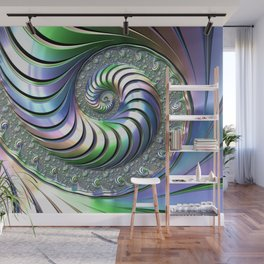 Colorful Spiral Wall Mural