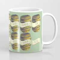 nori Mugs featuring 13 barrels - Hobbit by KanaHyde