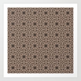 Warm Taupe Lace Art Print