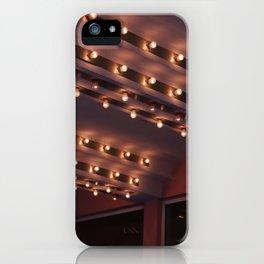 Cinema light bulbs vintage cinema lights iPhone Case