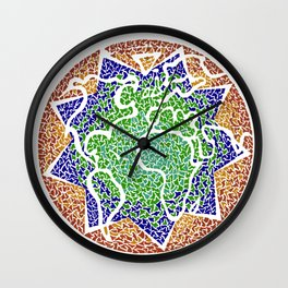 """The earth is but one country"" Wall Clock"