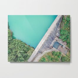 Dam of Reservoir Metal Print