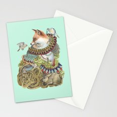 Quilted Comrades in the Forest Stationery Cards