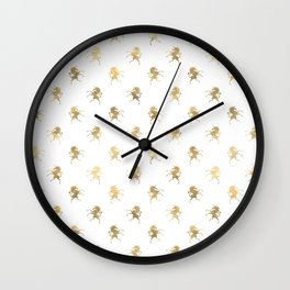 Gold Unicorn Pattern Wall Clock