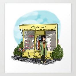 Balade à Honfleur Art Print