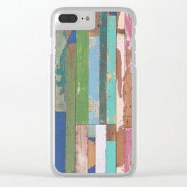 Maui Fence Hawaii Colorful Art Clear iPhone Case