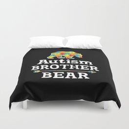 Cute Autism Awareness Brother Bear Duvet Cover