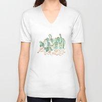 cacti V-neck T-shirts featuring Cacti Print by kara tinsley