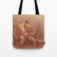 johnlock Tote Bags featuring calm by br0-harry