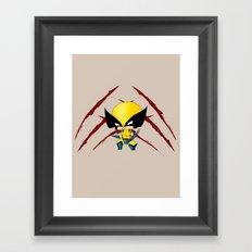 Chibi Wolverine Framed Art Print