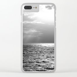 Black and White Sea Clear iPhone Case