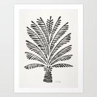 Palm Tree – Black Art Print