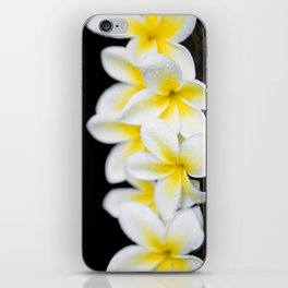 Plumeria obtusa Singapore White iPhone Skin