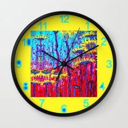 Sunflower Field  in Moonlight Abstract Wall Clock