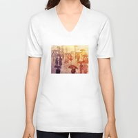 takmaj V-neck T-shirts featuring Summer day by takmaj