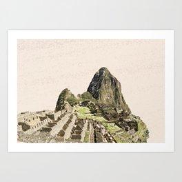 ArtWork Painting Machu Picchu Peru Paint Art Print Art Print