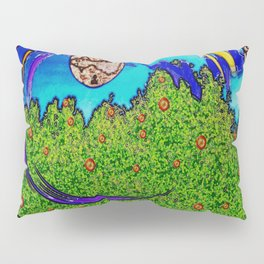 Rainbows and after the rain,it comes fishes over the tree tops. Pillow Sham