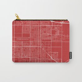 Oxnard Map, USA - Red Carry-All Pouch