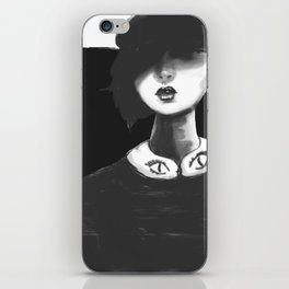 Contemporary Black and White Collar iPhone Skin