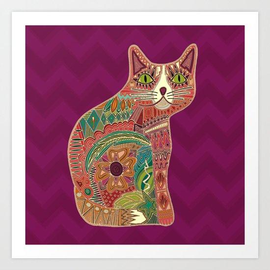 sugar cat Art Print