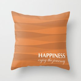 Orange for Happiness Throw Pillow
