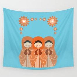 Matrioshkas Friendship Wall Tapestry