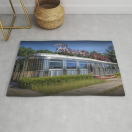 Historic Rosie's Diner by Rockford Michigan Rug