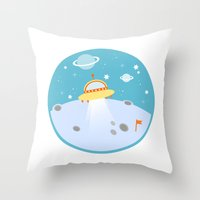 outer space Throw Pillows featuring Outer Space by Limitation Free