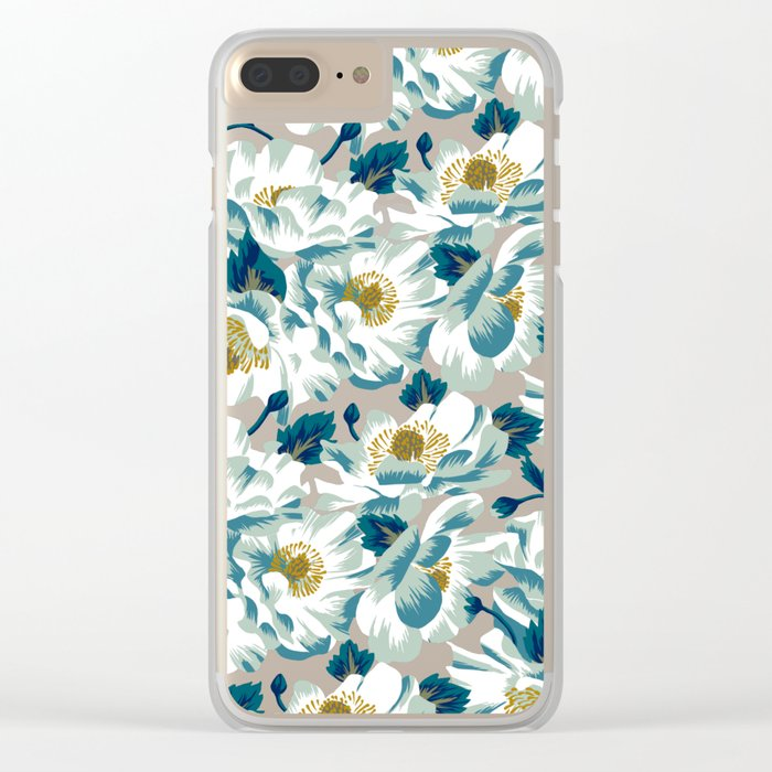 Mount Cook Lily (Night) Clear iPhone Case