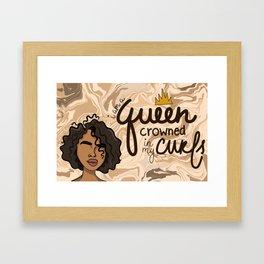 Crown of Curls Framed Art Print