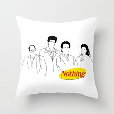A Show About Nothing Throw Pillow