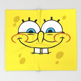 Spongebob Naughty Face Throw Blanket