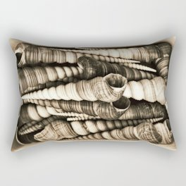 Vintage shell collection in sepia Rectangular Pillow