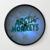 arctic monkeys Wall Clocks featuring Arctic Monkeys by SLIDE