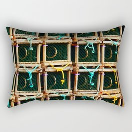 Square Lobster Traps Rectangular Pillow