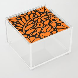 Beautiful Orange Otomi Acrylic Box