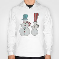 calendar Hoodies featuring Snowmen by Päivi Hintsanen