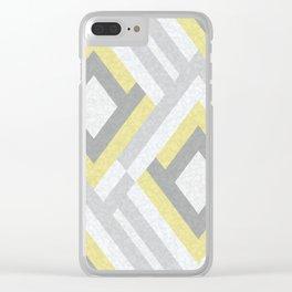 Geometric pattern.8 Clear iPhone Case