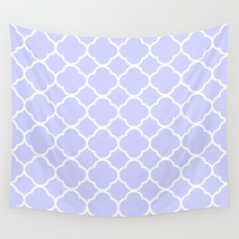 Periwinkle Blue Quatrefoil Wall Tapestry