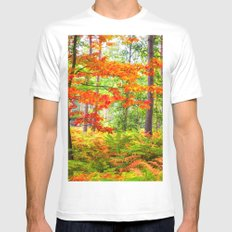 Beauty Forest XXC MEDIUM Mens Fitted Tee White