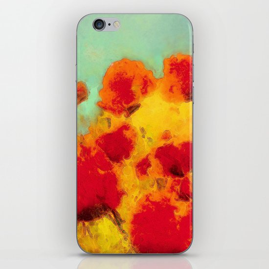 FLOWERS - Poppy time iPhone & iPod Skin