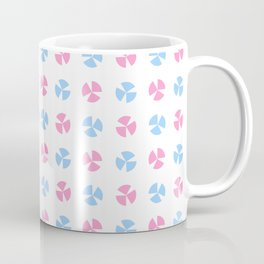 geometric flower 75 blue and pink Coffee Mug