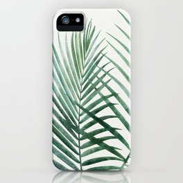 Emerald Palm Fronds Watercolor iPhone Case