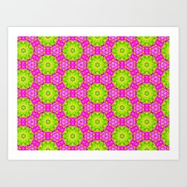 Kaleidoscope Of Pink Daises Art Print