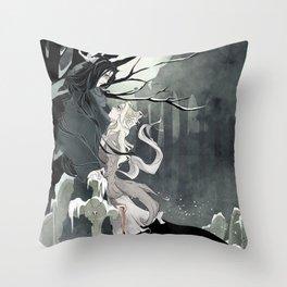 Scarko & Djavul Throw Pillow