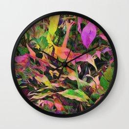 Dramatic Calla Lilies Wall Clock