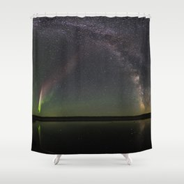 Milky Way and Steve Shower Curtain