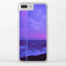 Dusk Light Leak Clear iPhone Case